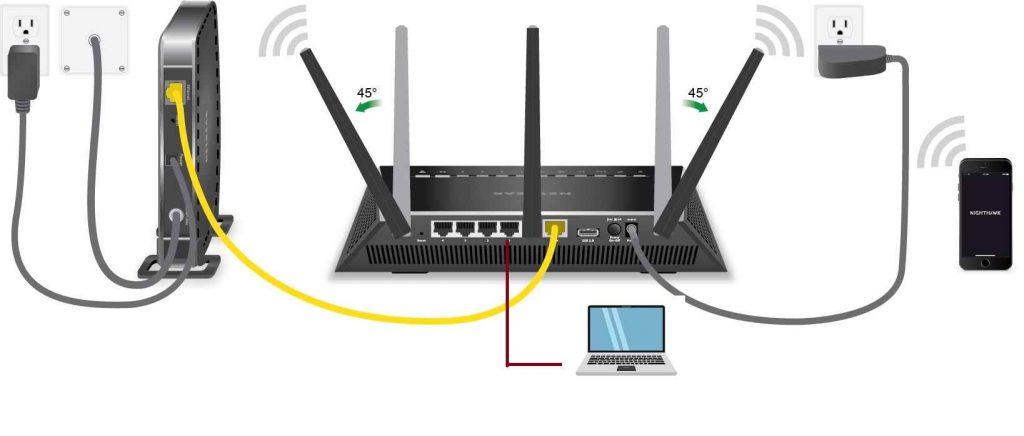 netgear nighthawk ac2100 smart wifi router connection