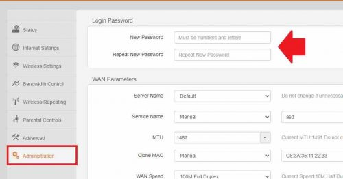 How to change the Admin Password